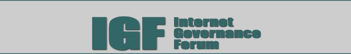 Internet Governance Forum: real time open data vs security and privacy (1/4)